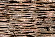 Texture of woven wood Royalty Free Stock Images