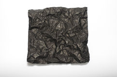 Texture of wrinkled black paper Stock Photos