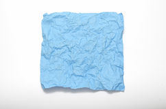 Texture of wrinkled blue paper Royalty Free Stock Images