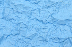 Texture of wrinkled blue paper Royalty Free Stock Photos