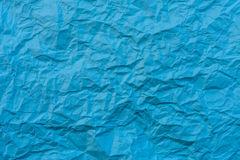 Texture of wrinkled blue paper Royalty Free Stock Photography