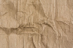 Texture of wrinkled corrugated paper Stock Image