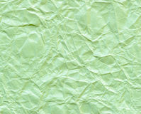 Texture of wrinkled green paper for background Royalty Free Stock Photo