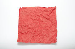 Texture of wrinkled red paper Stock Image