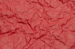 Texture of wrinkled red paper Royalty Free Stock Photo