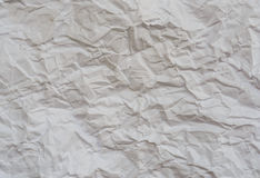 Texture of wrinkled white paper Royalty Free Stock Photo