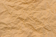 Texture of wrinkled yellow paper Royalty Free Stock Photo