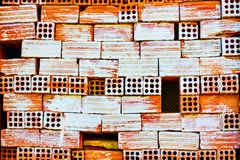 Texture of wry brickwork Royalty Free Stock Image