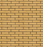 The texture of yellow brick cladding Stock Image