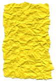 Yellow Fiber Paper - Crumpled with Torn Edges Royalty Free Stock Photos