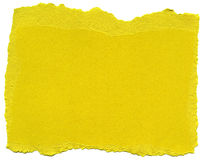 Yellow Fiber Paper - Torn Edges Stock Photos