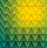 Texture of yellow green triangles. Royalty Free Stock Photo