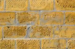 Texture of yellow masonry Stock Image