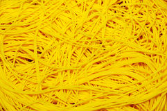 Texture of yellow noodle Royalty Free Stock Photos