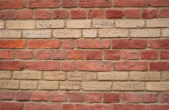 Texture of yellow and red brick wall Royalty Free Stock Image