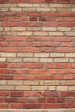 Texture of yellow and red brick wall Royalty Free Stock Images