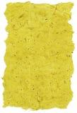 Isolated Rice Paper Texture - Yellow XXXXL. Texture of yellow rice paper with torn edges. Isolated on white background Stock Photo