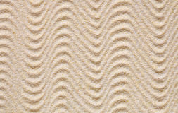 Texture from yellow sand with waves Stock Image