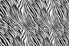 Texture of zebra style fabric Royalty Free Stock Photos