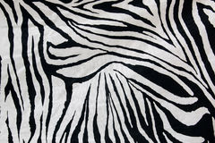Texture of zebra style fabric Stock Photography