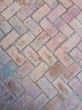 Zigzag bricks floor. Texture of zigzag bricks floor royalty free stock photo