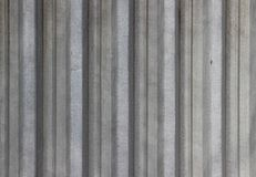 Texture of zinc covered wave-shaped steel sheet. As a background Stock Image