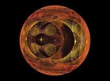Textureb 'glass' chrystal ball Stock Photography