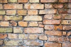 Textured ściana z cegieł Zdjęcia Stock