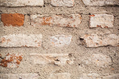 Textured ściana z cegieł Obraz Royalty Free