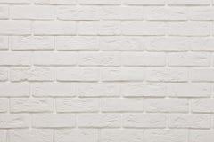 Textured ścienny biała cegła Tło struktura zdjęcia stock