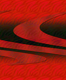 Textured 3D Graphic. In reds and black vector illustration