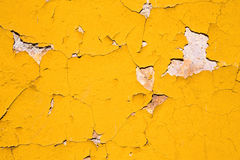 Textured abstract background of yellow paint Stock Image