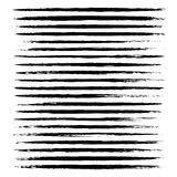 Textured abstract black thin long smears Stock Photography