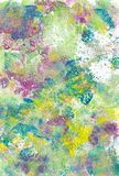 Textured abstract daubs of multicoloured paint stock images