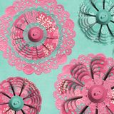 Textured Fabric Flower Doily Stock Images