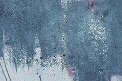 Textured abstract paint stroke on wall Stock Images