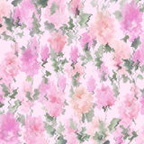 Textured abstract watercolor seamless pattern Impressionist oil painting on a white ground. Watery Abstract  Rose wall paper original art  colorful watercolor Stock Images