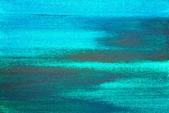 Textured abstrakcjonistyczny błękitny obraz ręka płótna tło Obrazy Royalty Free