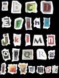 Textured Aged Alphabet Royalty Free Stock Photos