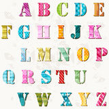 Textured alphabet Stock Images