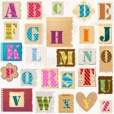 Textured alphabet Royalty Free Stock Photography
