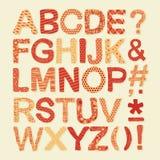 Textured Alphabet Set Stock Photos