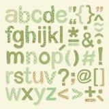 Textured Alphabet Set Royalty Free Stock Image