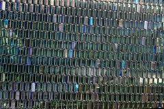 Textured architecture - shiny windows stock photo