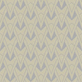 Textured art deco pattern with geometrical motifs. Organic geometric art deco pattern in beige colors, seamless vector background on paper texture. Ornament for Stock Images