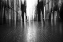 Textured artistic motion blur image of a man and a woman talking royalty free stock images