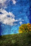Textured autumn landscape