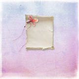 Textured background. With a piece of paper and paper butterfly Royalty Free Stock Photo