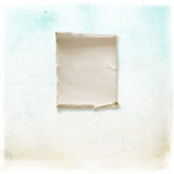 Textured background. Light blue textured background with a piece of paper and Royalty Free Stock Photos