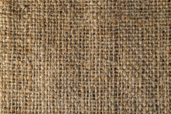 Textured background of a brown burlap bag Royalty Free Stock Photography